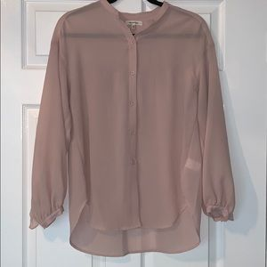 Max Studio Blush Blouse with Frilled Detail